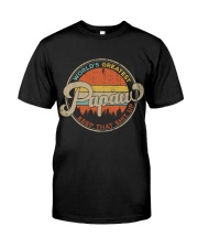 World's Greatest Papaw Keep Up Classic T-Shirt front