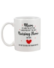 Won Lottery Best Nursing Home Mug back