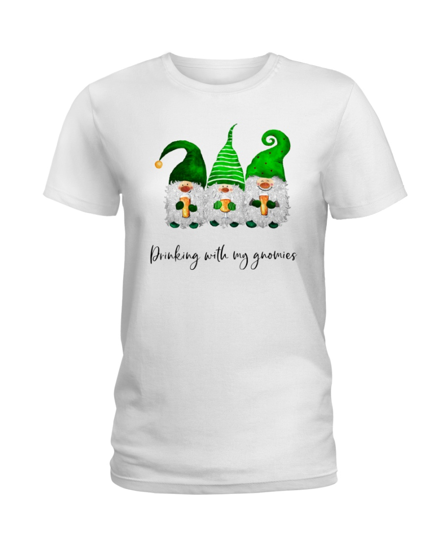 Drinking With Gnomies Ladies T-Shirt