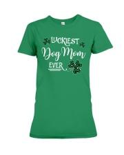 Luckiest Dog Mom Premium Fit Ladies Tee front