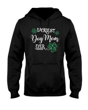 Luckiest Dog Mom Hooded Sweatshirt thumbnail