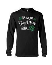 Luckiest Dog Mom Long Sleeve Tee thumbnail