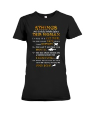 5 Things About Cat Mom Premium Fit Ladies Tee thumbnail