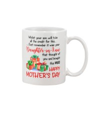 While Your Son Take Credit Mug front