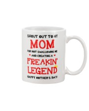 Shout Out To Mom  Mug front