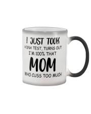 DNA test crazy mom cuss Color Changing Mug thumbnail