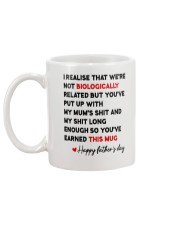We're Not Biologically Related AUS Mug Mug back