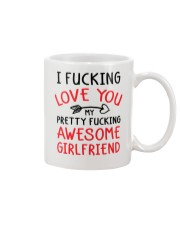 Love Awesome Girlfriend Mug front