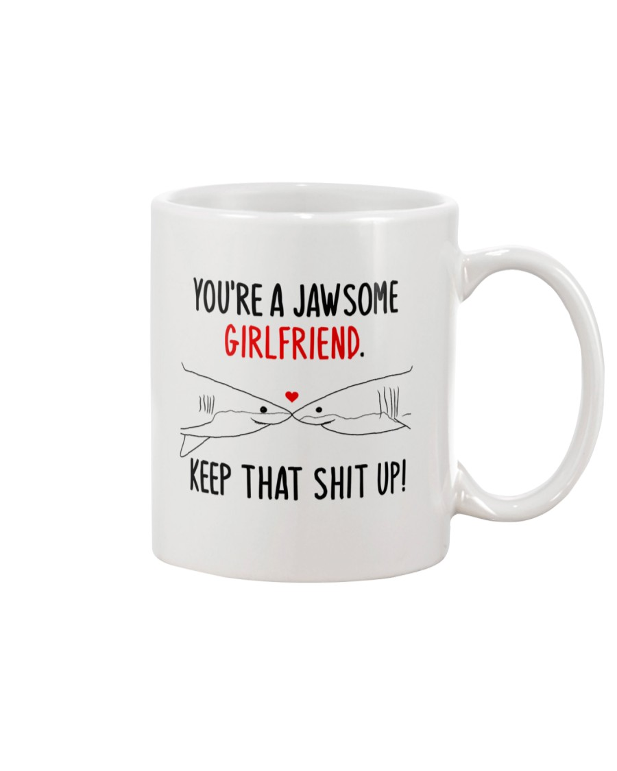 Jawsome Girlfriend Keep Up Mug