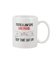 Jawsome Girlfriend Keep Up Mug front