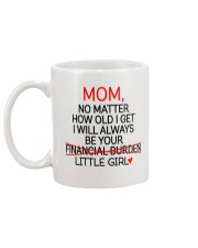 Little Girl Financial Burden  Mug back
