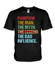 Pawpaw Legend Bad Influence V-Neck T-Shirt thumbnail