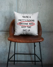 Awesome Wife  Square Pillowcase aos-pillow-square-front-lifestyle-04