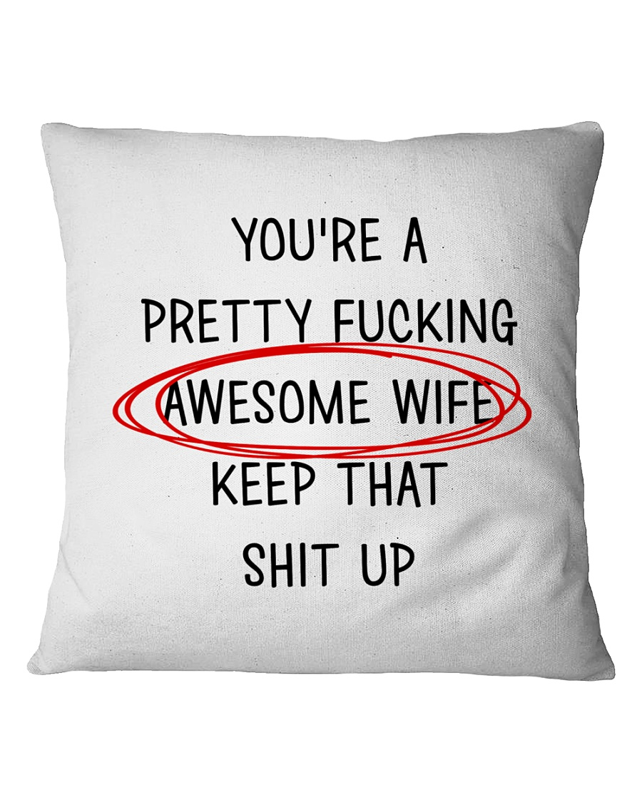 Awesome Wife  Square Pillowcase