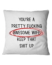 Awesome Wife  Square Pillowcase front
