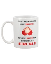 The First Thing I Noticed About You Mug back