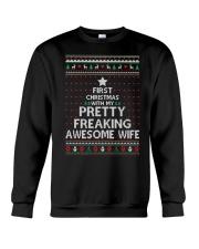 First Christmas Pretty Freaking Crewneck Sweatshirt thumbnail