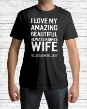 Love always rights wife Premium Fit Mens Tee lifestyle-mens-crewneck-front-1