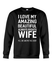 Love always rights wife Crewneck Sweatshirt thumbnail