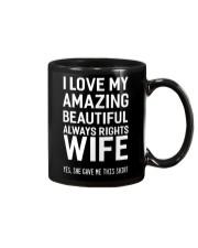 Love always rights wife Mug thumbnail