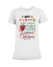 Just a mom loves baking  Premium Fit Ladies Tee front