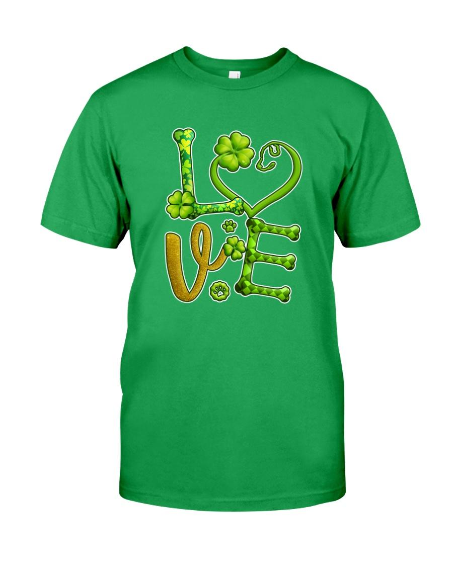 Dog Love Patrick Day  Classic T-Shirt