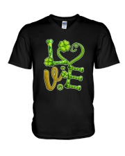 Dog Love Patrick Day  V-Neck T-Shirt thumbnail