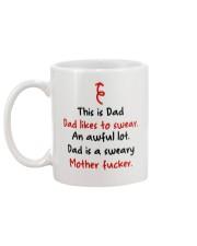 Dad Likes To Swear Mug back