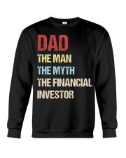 Dad Man Myth Financial Invester Crewneck Sweatshirt thumbnail