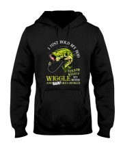Hold Rod And Wiggle Worm Hooded Sweatshirt thumbnail