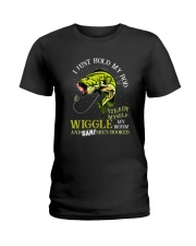 Hold Rod And Wiggle Worm Ladies T-Shirt thumbnail