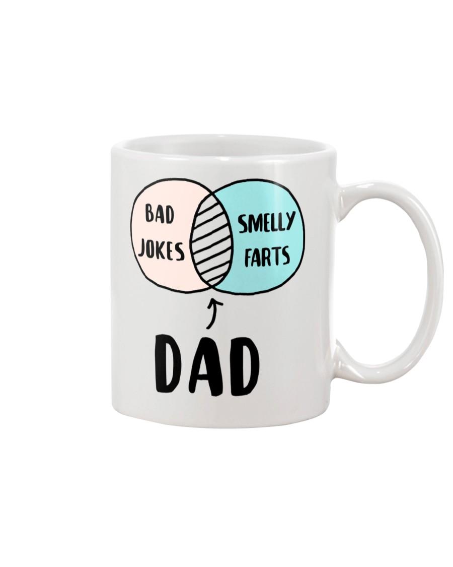 Dad Jokes Smelly Fart Mug