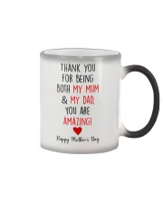 Both Mum And Dad Color Changing Mug tile