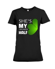 She Is My Drunker Half Premium Fit Ladies Tee thumbnail