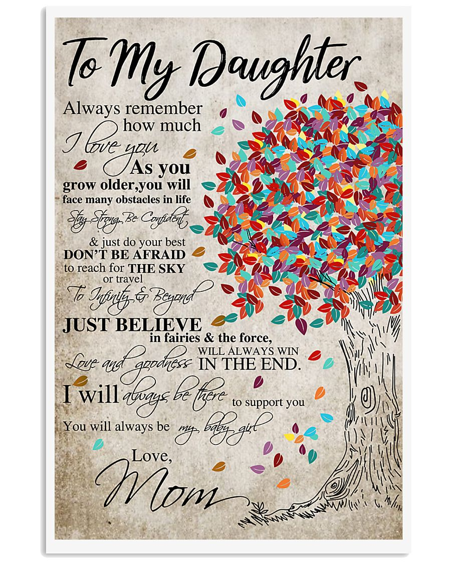 Mom To My daughter 11x17 Poster