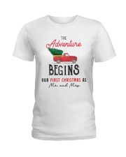 Adventure begins first Christmas Ladies T-Shirt thumbnail