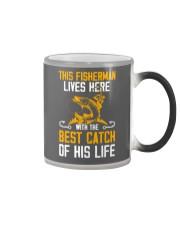 This Fisherman Lives here Color Changing Mug thumbnail