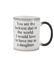 You Are The Luckiest Dad Color Changing Mug thumbnail