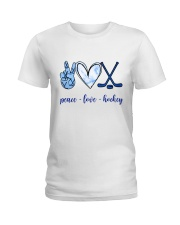 Peace Love Hockey Ladies T-Shirt front