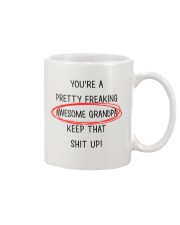 Pretty Freaking Awesome Grandpa Keep Up  Mug front