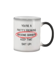 Pretty Freaking Awesome Grandpa Keep Up  Color Changing Mug thumbnail