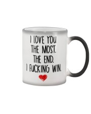 Love You The Most The End Fucking Win Color Changing Mug thumbnail
