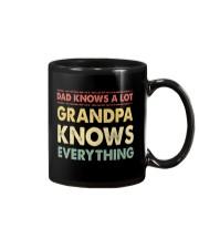 Dad Knows A Lot Grandpa Knows Everything Mug thumbnail