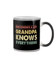 Dad Knows A Lot Grandpa Knows Everything Color Changing Mug thumbnail