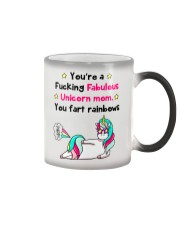Fabulous Unicorn Mom Color Changing Mug tile