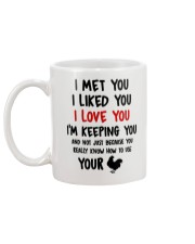 I Love You Because You Know How To Use Your Cock Mug back