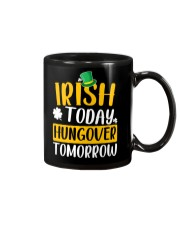 Irish Today Hungover Tomorrow Mug tile