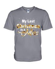 MY LAST CHRISTMAS AS A MISS V-Neck T-Shirt thumbnail