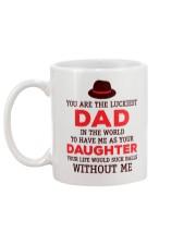 Luckiest Dad Suck Mug back