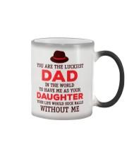 Luckiest Dad Suck Color Changing Mug thumbnail